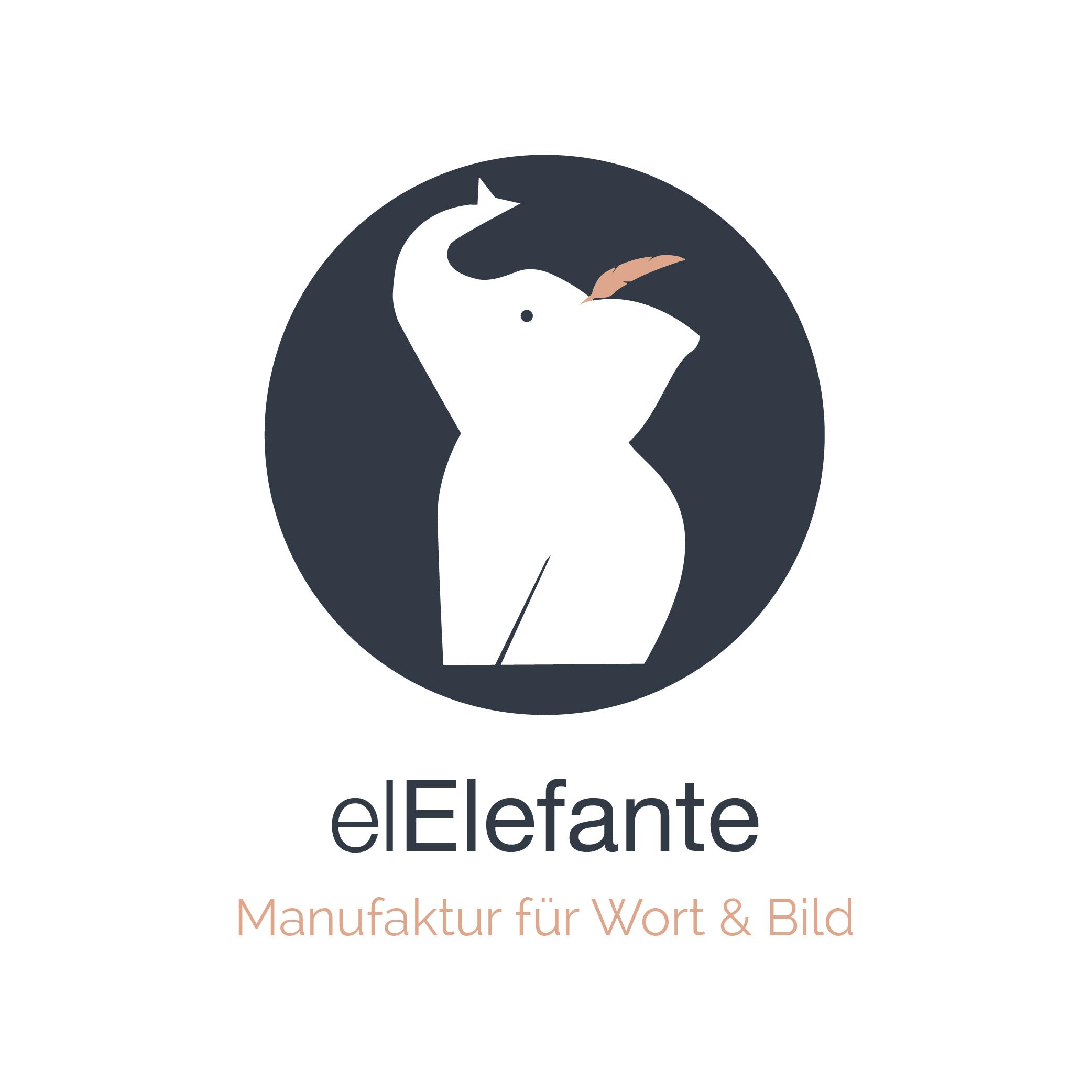 el elefante - manufaktur für wort & bild logo